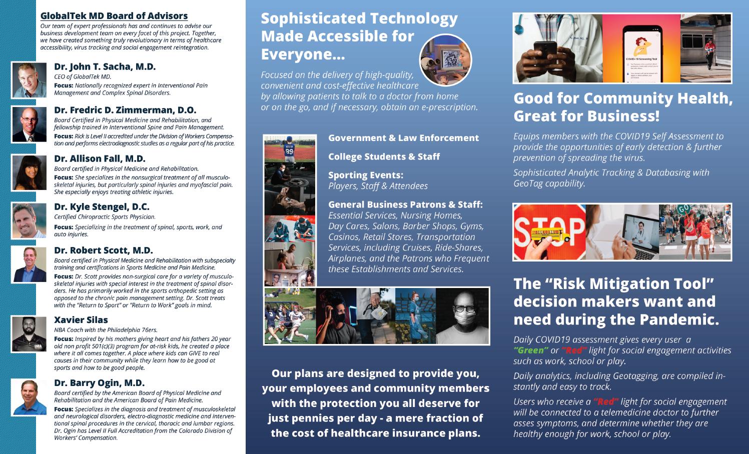 GlobaltekMD Trifold Brochure Inside