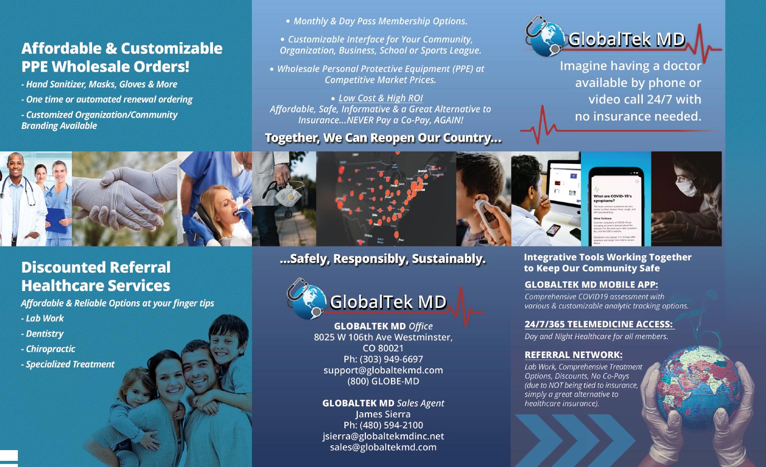 GlobaltekMD Trifold Brochure Outside